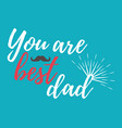 happy fathers day banner and giftcard vector image