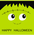 happy halloween frankenstein zombie monster vector image