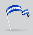 Honduras wavy flag vector image vector image