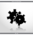 icon of gears vector image vector image