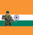 indian soldier background vector image vector image