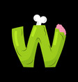 letter w zombie font monster alphabet bones and vector image vector image