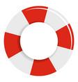 lifebuoy icon flat style vector image vector image