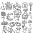magic tattoo set vector image