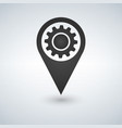 map pointer with gear icon on white background vector image