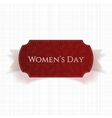 March 8 Womens Day red realistic greeting Card vector image