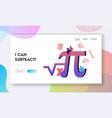 mathematics science and algebra landing page
