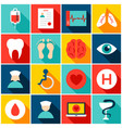 medical hospital colorful icons vector image vector image