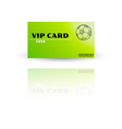 Modern VIP card template vector image vector image