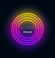 neon futuristic round frame for text can be used vector image vector image