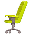 Office chair in green color vector image