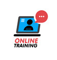 online training concept icon simple blue element vector image