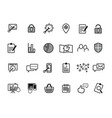 online web icon and business icon set vector image
