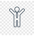 open arms concept linear icon isolated on vector image