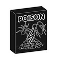 packaging with poison single icon in black style vector image
