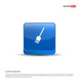 paint brush icon - 3d blue button vector image
