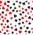 poker card suit seamless pattern background black vector image