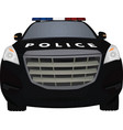 police car front view vector image vector image