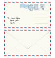 Postcard Letter to Santa vector image vector image