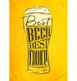 Poster best beer yellow vector image vector image