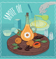 sapote oil used for cooking vector image vector image