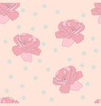 seamless pink rose and confetti pattern flower vector image vector image