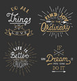 set inspirational lettering for greeting cards vector image vector image