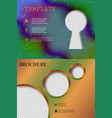 set of business brochure flyer design layout vector image vector image