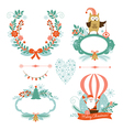 Set of Christmas and New Year graphic elements