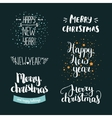 Set of hand drawn Merry christmas and Happy new vector image vector image
