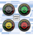 speedometer car speed dashboard panels vector image