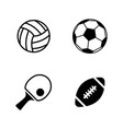 sport balls simple related icons vector image vector image
