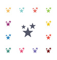 stars flat icons set vector image