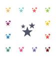 stars flat icons set vector image vector image