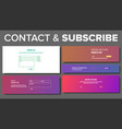 subscribe form service system modern vector image vector image