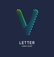 the letter v latin alphabet display vector image