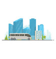touristic white bus vector image