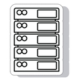 tower computer server isolated icon vector image
