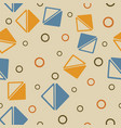 triangle and circle shapes geometric vector image vector image