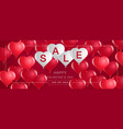valentines day saletemplate bannerhearts vector image vector image