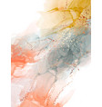 vivid gradient abstract orange yellow watercolor vector image