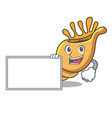 with board exotic shell character cartoon vector image