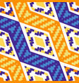 yellow and blue diagonal african geometric pattern vector image