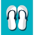 Flip flops graphic icon vector image