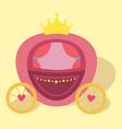 princess pink horse drawn carriage vector image