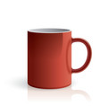 Red mug vector image
