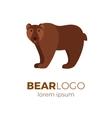 Flat bear logo vector image