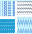 set abstract wave pattern vector image