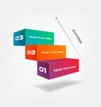 3d blocks stairs of success infographics step by vector image vector image