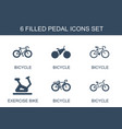 6 pedal icons vector image vector image